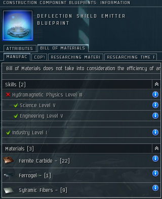 A deflection shield emitter blueprint
