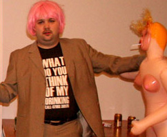 CCP Oveur pink wig drunk